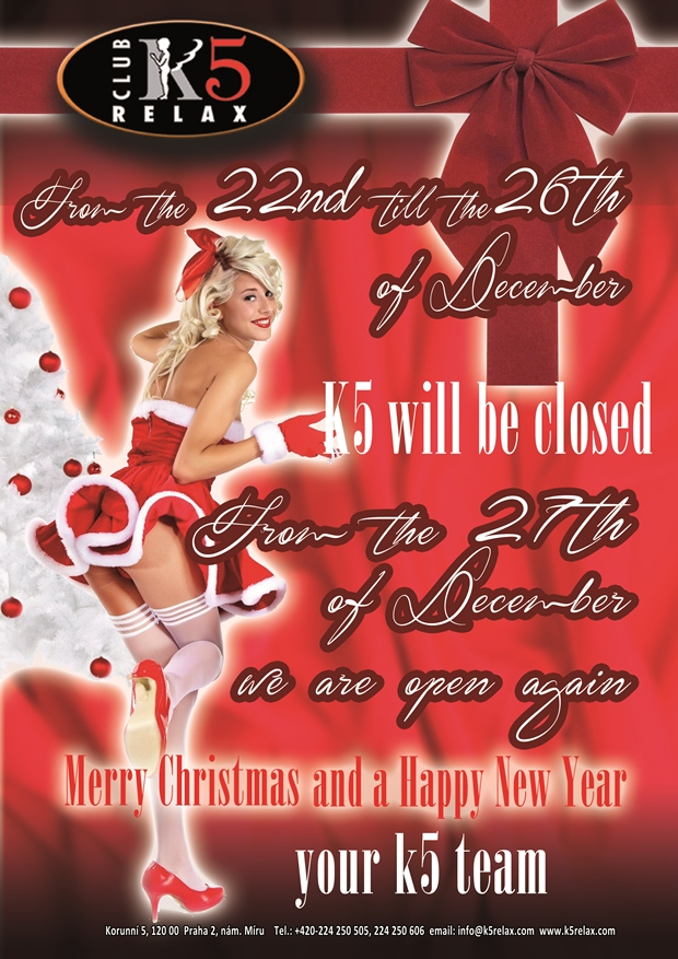 K5 Opening Xmass Hours